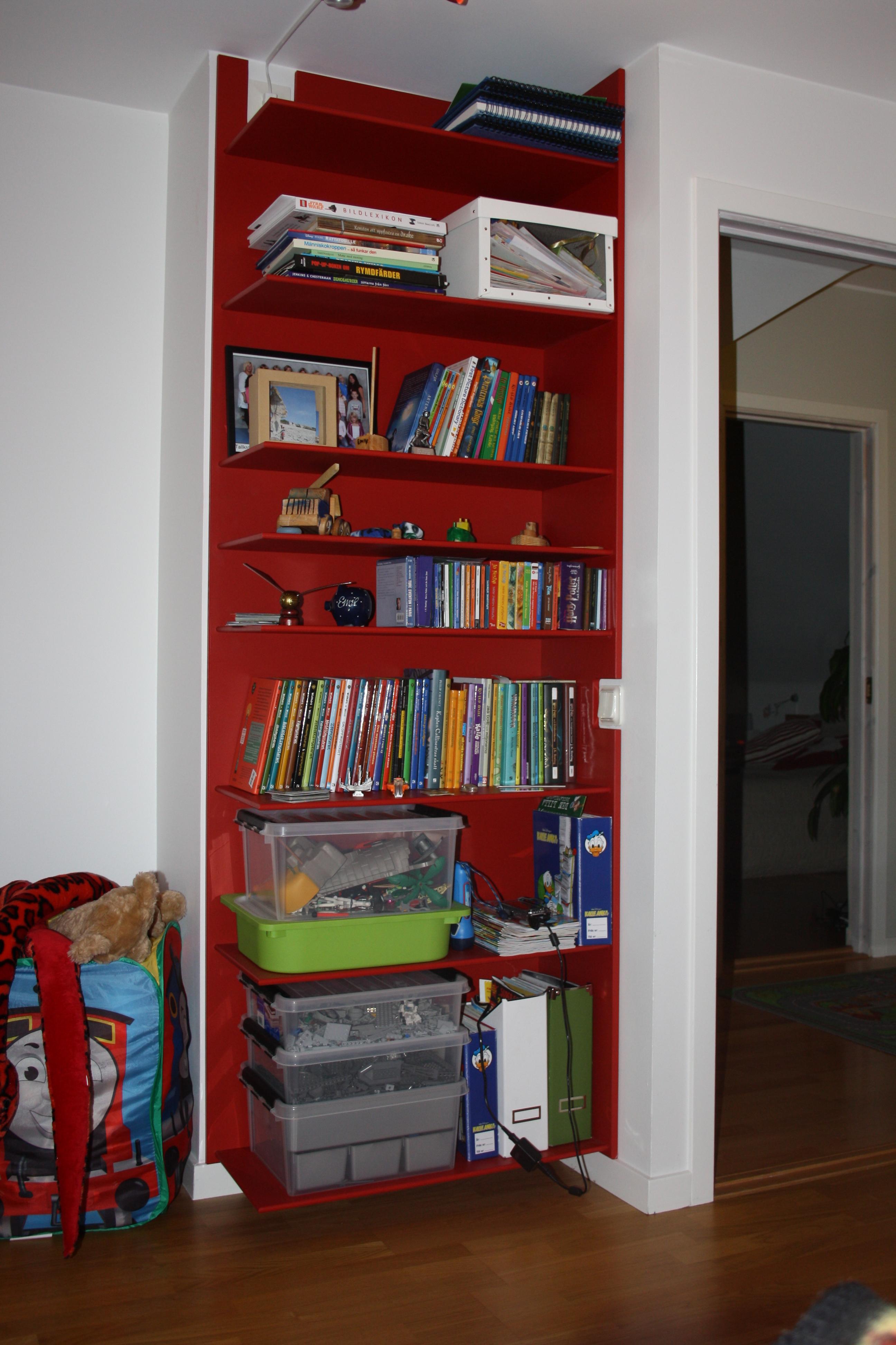 bokhylla barnrum ~ bokhylla i barnrum  f24 inredning och design ab